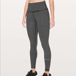 Lululemon Wunder Under Tight Parallel Stripe Black